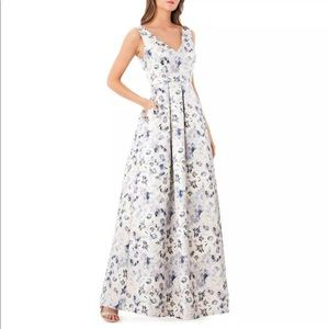 JC Collection Floral Printed Gown